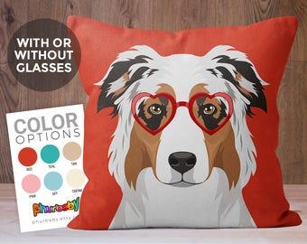 Australian Shepherd Pillow | Aussie | Girlfriend Gift | Fiancé Gift | Stuffed Dog Pillow | Throw Pillow Dog Gift | Best Friend Gift