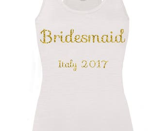 Personalised Bridesmaid Hen Party Vest top