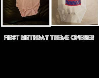 Birthday Theme Shirts and Onesies
