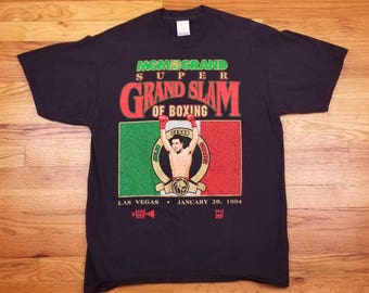 Vintage 90s 1994 Julio Cesar Chavez Boxing MGM Grand Slam Mexican Flag Size Large