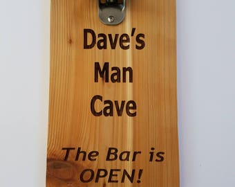 Personalized Bottle Opener Sign