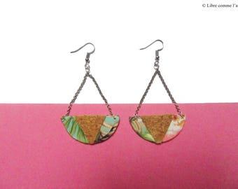 TROPICALIEGE / / tropical Cork circle motif Stud Earrings