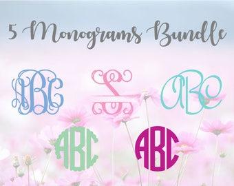 Monogram Bundle SVG, Font bundle SVG, Alphabet Letters SVG, Monogram Font, svg Cutting Fonts, Svg Files, Svg files for silhouette