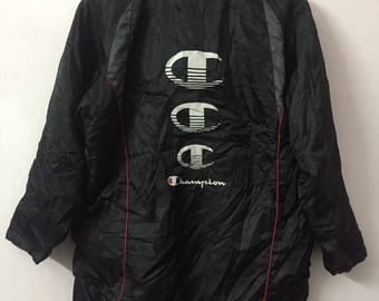 SALE ! Vintage CHAMPION big logo spell out and embroidery logo