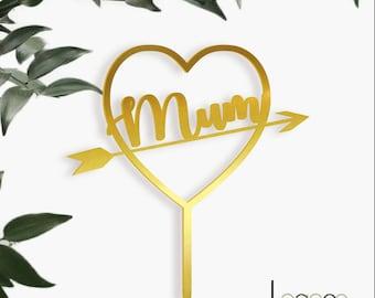 Mum HEART Cake Topper