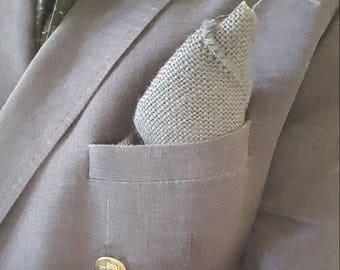 Burlap Pocket Square