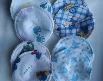 Washable Nursing Pads in Blues