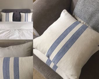 Vintage Linen grain sack cushion