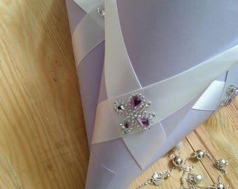 Wedding Purple Luxury Confetti Cones/ Wedding  Petal Confetti cones/Cones for wedding flowers/Cones for Confetti