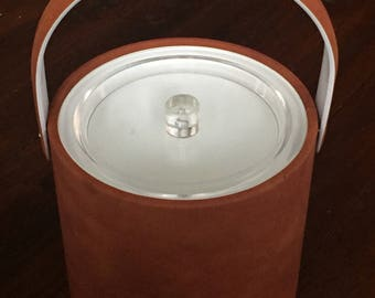 Georges Briard Faux Suede Ice Bucket