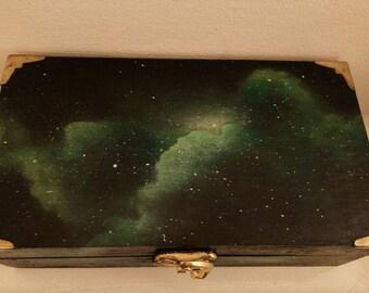 Green cloud nebula galaxy storage box
