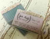 Lavender, Chamomile and Peppermint Goat Milk Soap / Relaxing , Cooling, Stress Relieving / Stone Cold