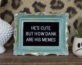 He's Cute But How Dank Are His Memes Frame