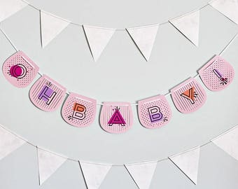 OH BABY! Girl Banner