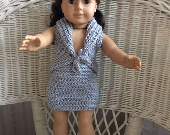 "American Girl/18"" Doll - Vest and Straight Skirt"