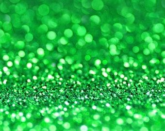 GREEN BIO GLITTER - Biodegradable Glitter- Festival Biodegradable Glitter-  Eco Glitter - Mermaid Glitter - Cosmetic Grade -375 microns