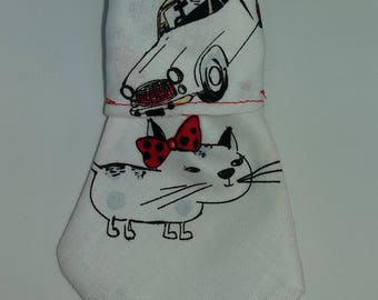 "Bandana - Tie for cats / dogs ""Cat in Paris"""