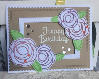 Birthday Card with Flowers