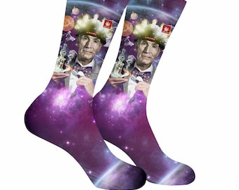Bill Nye Socks. Bill Nye Weed Socks. Bill Nye Marijuana Socks. Bill Nye. Science. StonerDays Weed Socks. Space Socks. Planet. Stars. Space