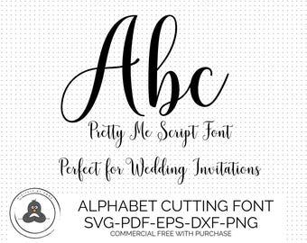 Pretty SVG Fonts For Cricut, Hand Lettered SVG, Wedding Font SVG, Svg Bundles, Cursive Font Svg, Cameo Fonts for Silhouette, Script Svg Font