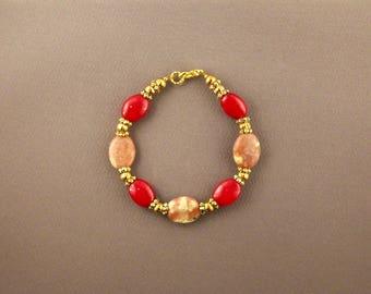 African Pietersite and Australian Jade Bracelet