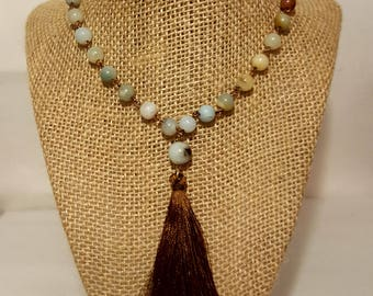Amazonite Beads with tassel