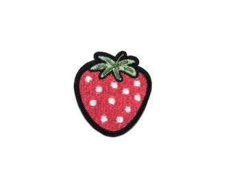 Iron on patch, strawberry patch