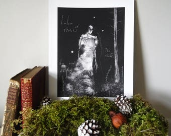 VASILISA | Monotype Folklore Print | Skeletal