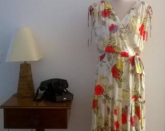 Beautiful colorful dress, years 70-80