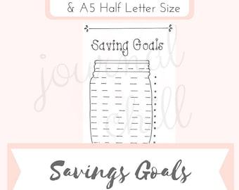 Savings Goals: Bullet Journal Printable