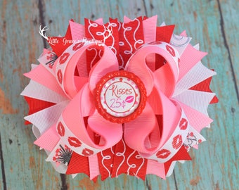 valentines day bow-hairbow-headband-babygirl bows-pretty bows-school bow-boutique hairbow-big bows