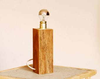 Table lamp wood - chic, timeless, handmade