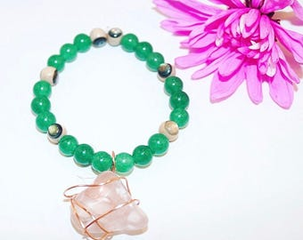 Heart Chakra Rose Quartz Bracelet