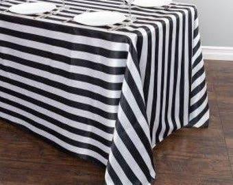 Lovemyfabric 2 Inch Stripes Satin Tablecloth/Overlay For Wedding/Bridal  Shower, Birthdays,