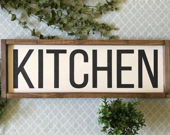 Framed Kitchen Sign, Wood Kitchen Sign, Framed Wood Kitchen Sign, Wooden Kitchen Sign, Kitchen Sign, Kitchen Wall Art, Rustic Kitchen Decor