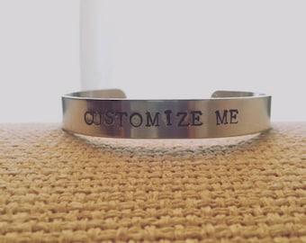 Custom Metal Stamped Bracelet Cuff