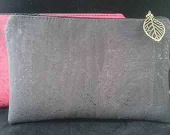 Cork clutch,clutch, clutch bag, wristlet, zippered purse, made in australia