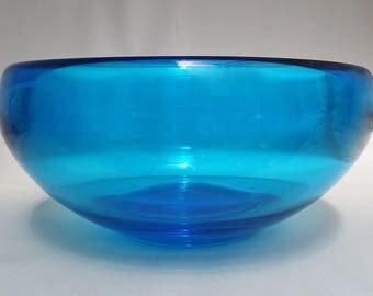 Whitefriars Kingfisher Blue Optic Bowl 9380