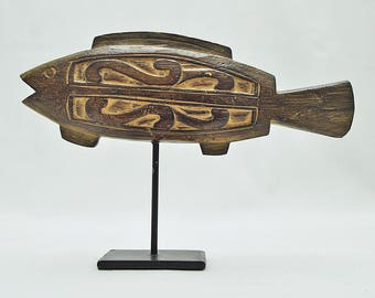 Stylised Wooden Fisn Sculpture – 1950s/60s