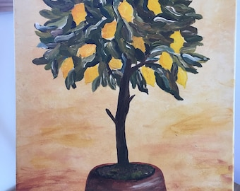 "Acrylic painting-""lemon tree"" in the original"