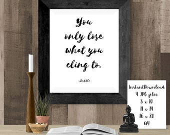 Simple Buddha Home Decor, Zen Art Printable, Mindfulness Wall Art, DIY Artwork PDF, Buddhism Quotes to Print at Home, Cheap Yoga Gift Ideas