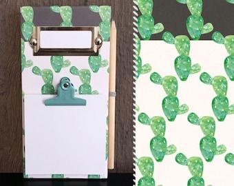 Notes memo Board / / Cactus cactus / / wood clipboard