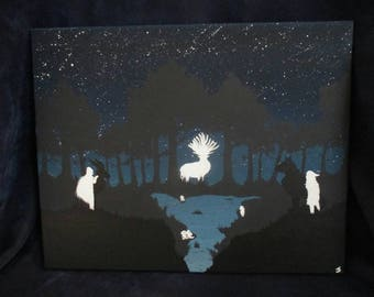 Forest Guardians - Original 20x16 Acrylic Painting on Stretched Canvas