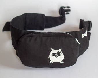 """durable Belt pouch, screen printing """"OWL"""""""