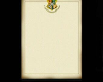 FREE SHIPPING - Hogwarts Note Pad - 100 Sheets