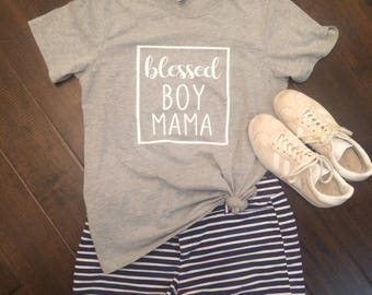 Blessed Boy Mama Shirt