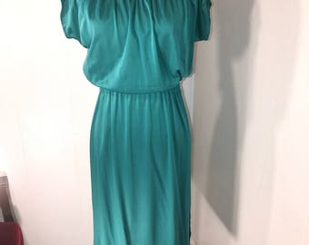 Vintage Green Polyester Dress