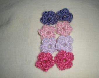 Set of eight mini flowers