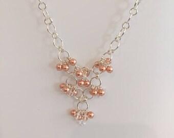 Necklace, Swarovski, Crystals, Pearls, Silver-filled