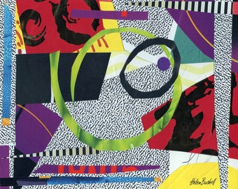 Roundabout, collage, paper, colored paper, colorful, abstract, instant download art, collage download, abstract collage